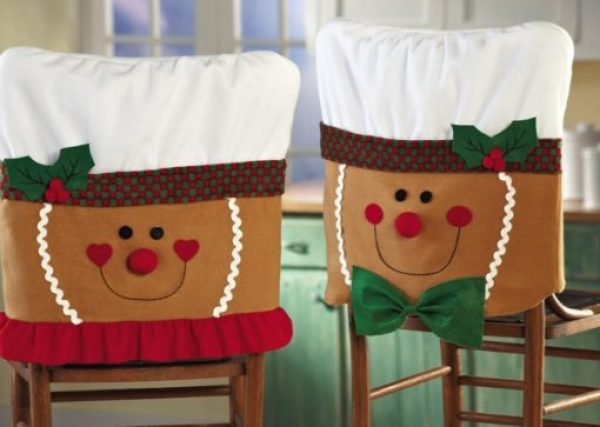 Gingerbread Family Dining Chair Slipcovers