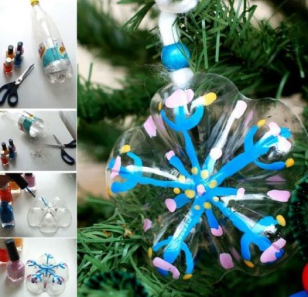 Pop Bottles Recycled Into Christmas Tree Decorations