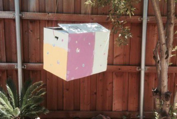 Cardboard Box Turned Into a Pinata