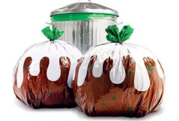 Christmas Pudding Novelty Bin Bags