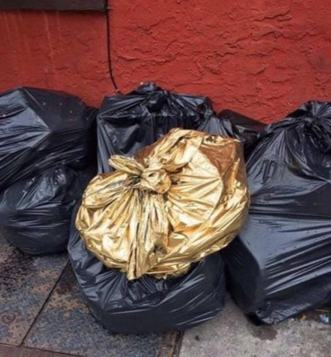 Golden Novelty Bin Bags