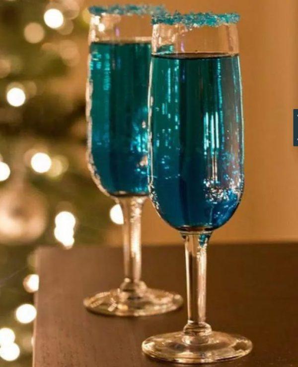 Blue Sparkling Star Cocktail