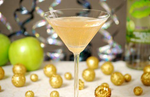 Sparkling Bitter Apple Martini