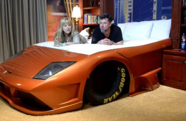 Repurposed Lamborghini Made into a Bed