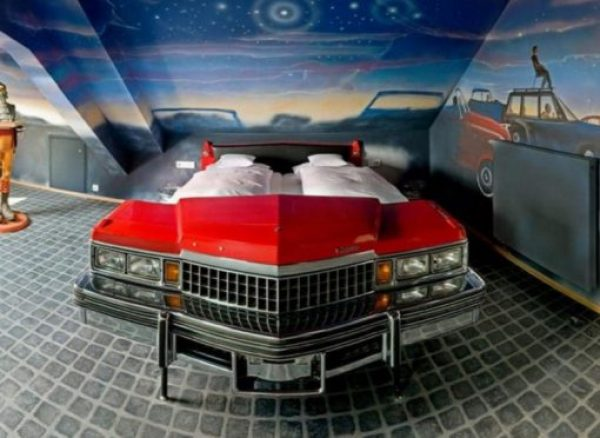 Repurposed Cadillac Made into a Bed