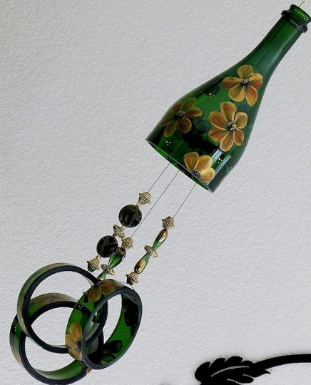 Wind Chime Made from a Champagne Bottle