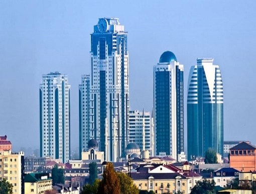 Grozny-City Towers Facade Clocks, Grozny City