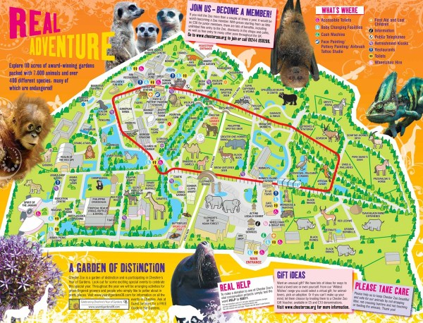 Chester Zoo Map