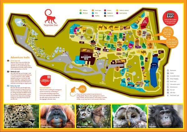 Twycross Zoo Map