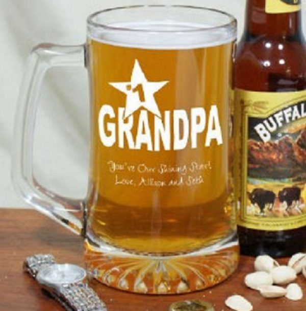 Personalised Grandpa Beer Mug
