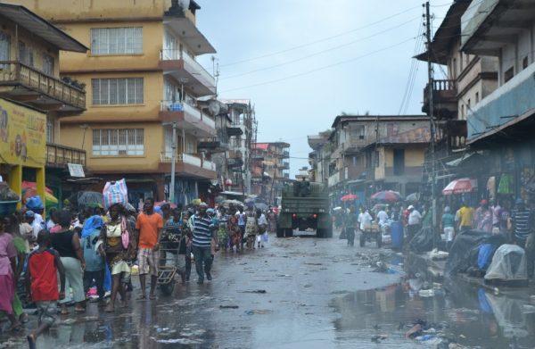 Freetown, Sierra Leone in the Rain