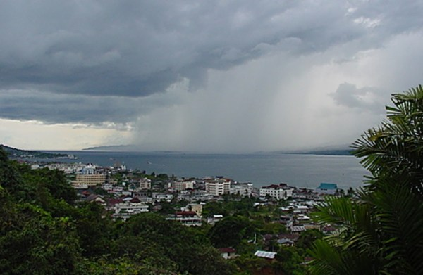 Ambon, Maluku in the Rain