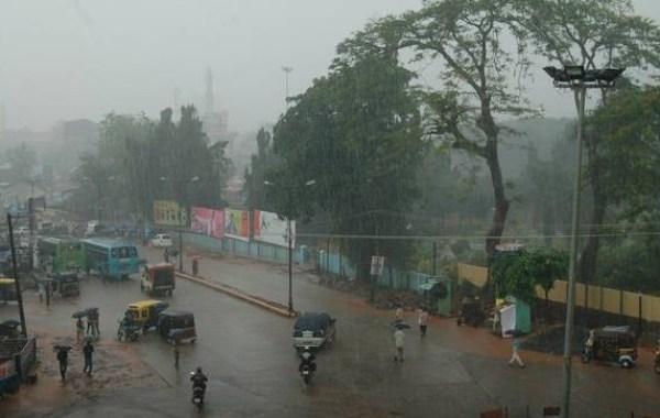 Mangalore, India in the Rain
