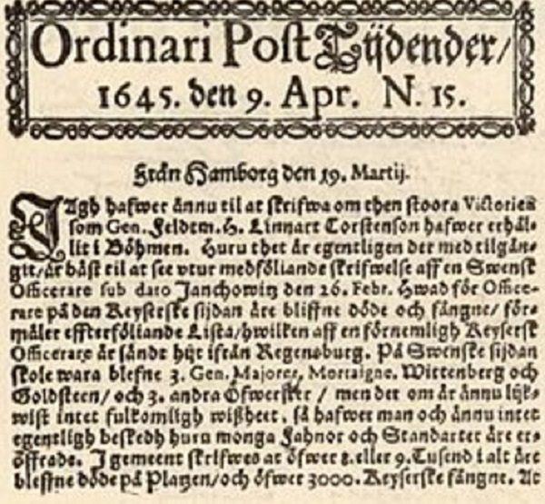 Post och Inrikes Tidningar Newspaper