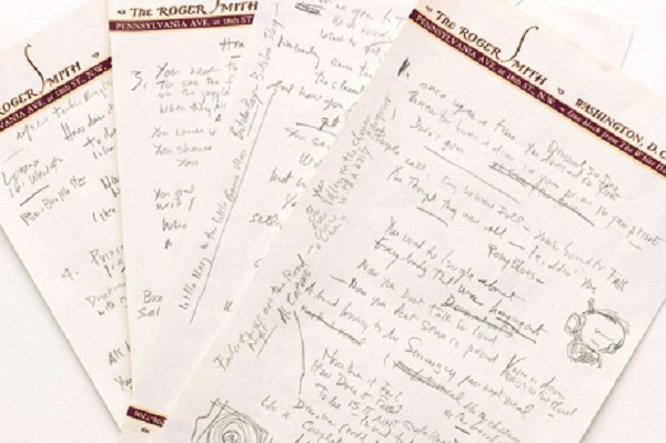 Bob Dylan's Hand-Written Lyrics To Like a Rolling Stone