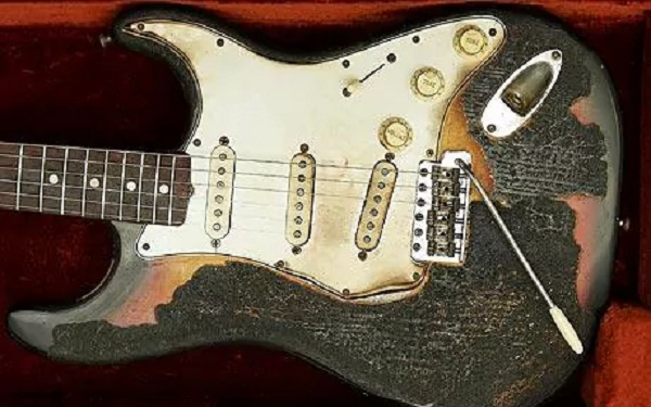 Jimi Hendrix's Torched Guitar