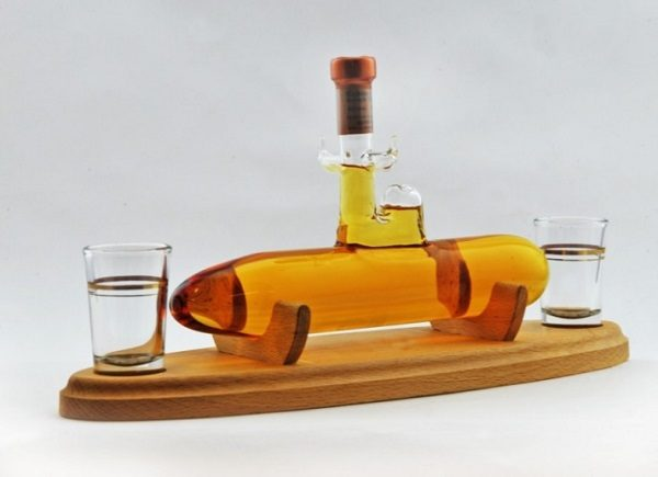 Submarine Shape Whisky Decanter