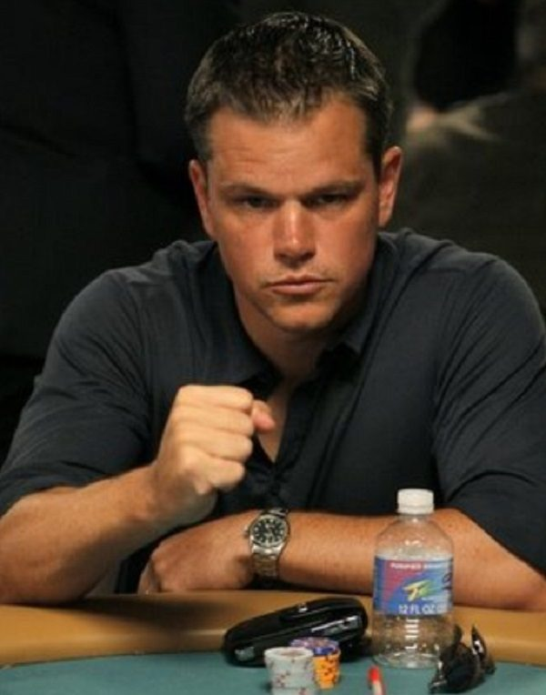 Matt Damon -  Professional Poker Player