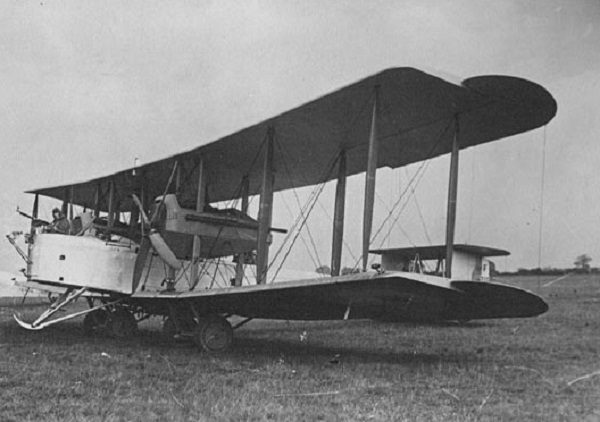 Twin Rolls-Royce-engined converted Vickers Vimy bomber.