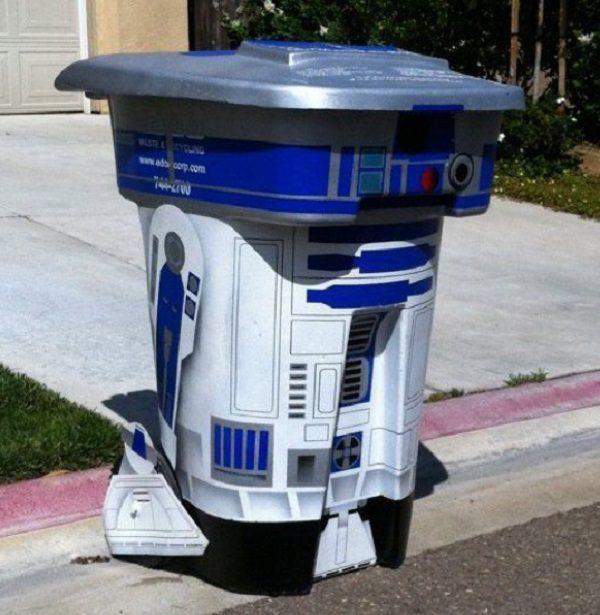 R2-D2 Wheelie Bin