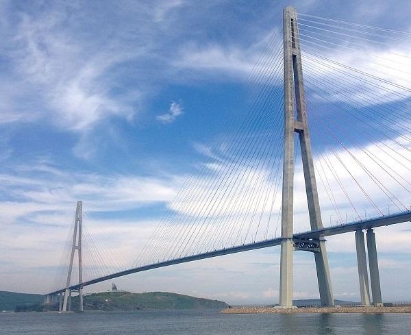 Russky Bridge in Russia