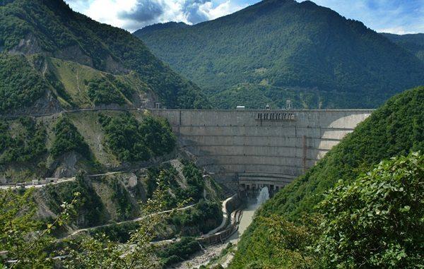 Enguri Dam in Georgia