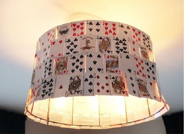 Lampshade Made With Playing Cards