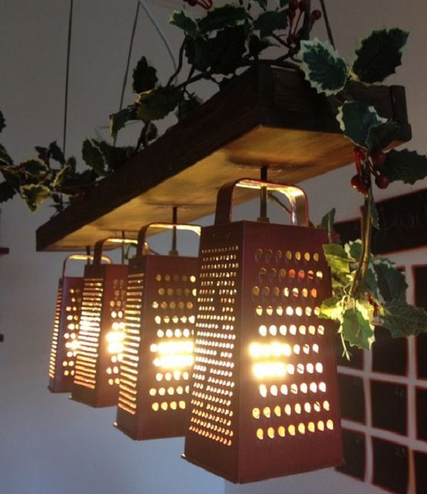 Cheese Grater Turned into a Light Shade