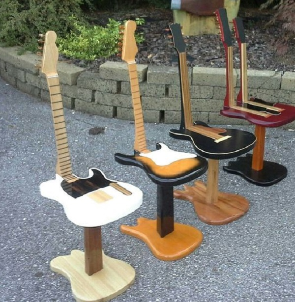 Old Guitar Turned Into a Stool