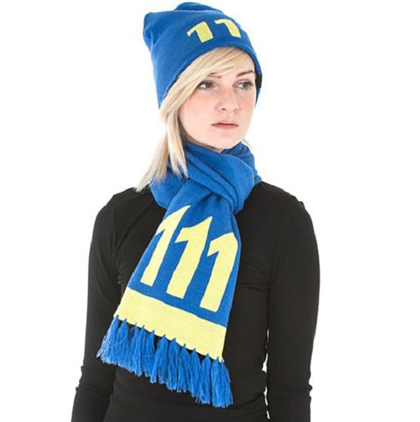 """58"""" Soft-knit Acrylic Fallout Vault 111 Scarf"""