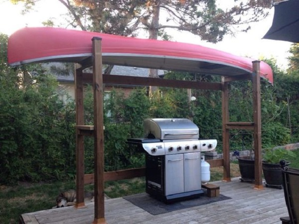 Canoe/Kayak Used to make a canopy for a BBQ