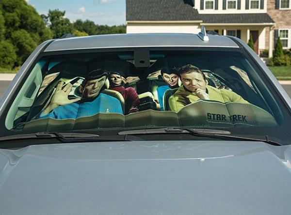 Star Trek The Original Series Road Trip Universal Car Sunshade