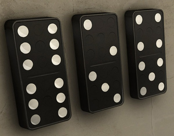 Carbon Design Domino Wall Clock