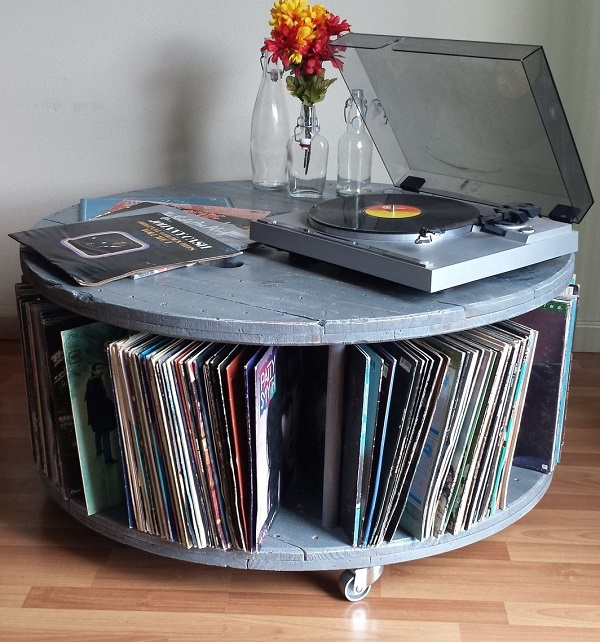 Media Center Turntable Stand (With Record Storage)