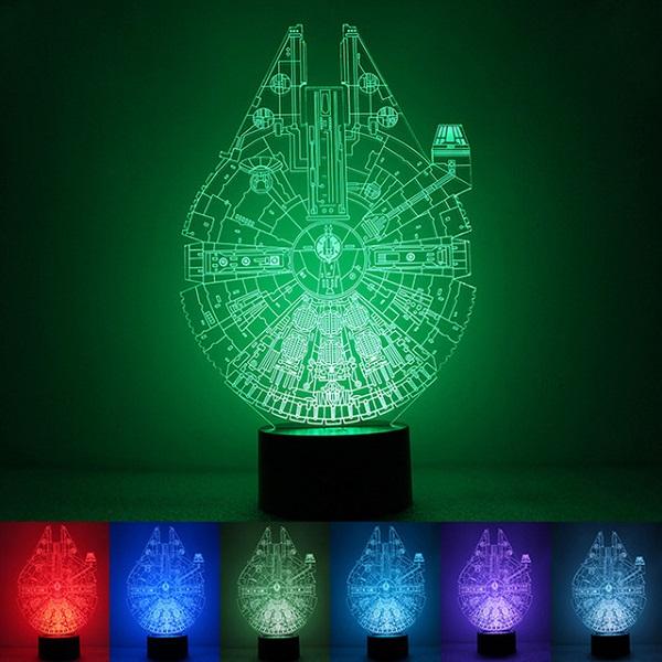 Star Wars Millennium Falcon 3D Night Lamp