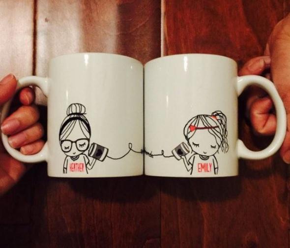 Personalised Friends Coffee Mug Set