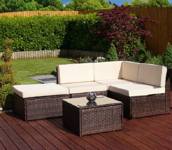 5 Piece Faro Modular Rattan Furniture
