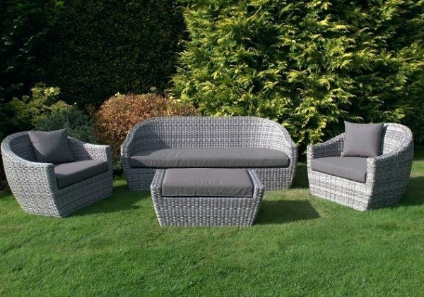 Azel 4-Piece Rattan Garden Furniture Set