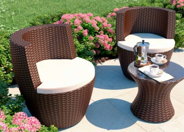 Artelia 3 Piece Stackable Rattan Garden Furniture Set