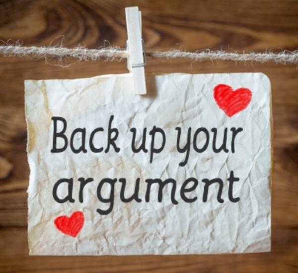 Back up your argument