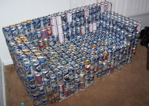 Beer Can Sofa