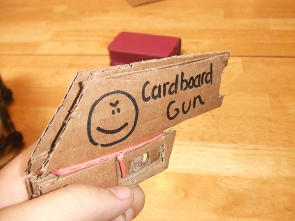 Pizza Box Rubber Band Gun