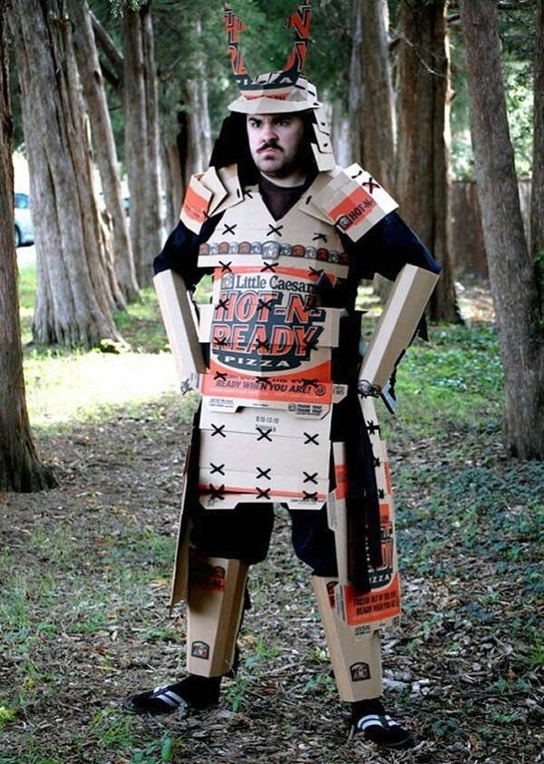 Ultimate Pizza Box Samurai Suit