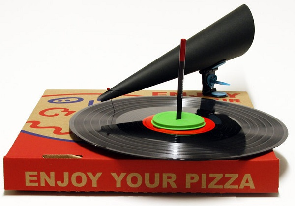 Pizza Box Gramophone