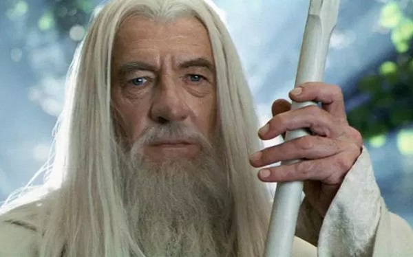 "Ian McKellen in the movie ""The Lord of the Rings"""