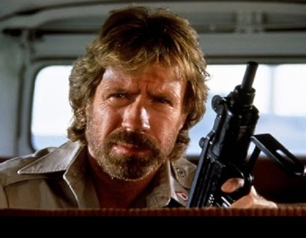 "Chuck Norris in the movie ""The Delta Force"""