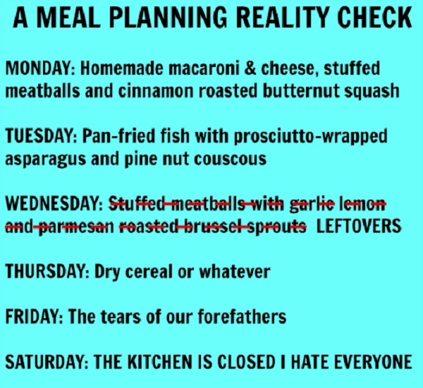 Have a meal plan