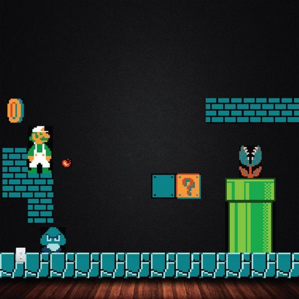 Mario 1 NES Underworld Level 1-2 Vinyl Wall Stickers
