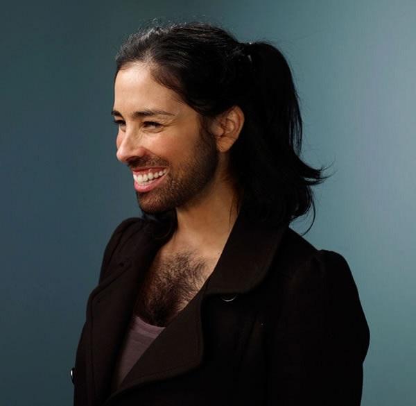 Sarah Silverman with a Beard