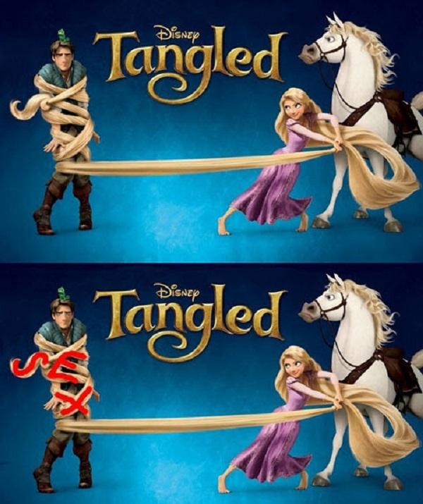 Tangled: Hidden Word S-E-X
